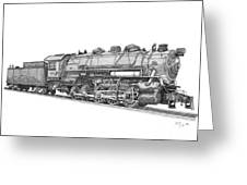 Heavy Steam Switcher 0-10-0 Greeting Card