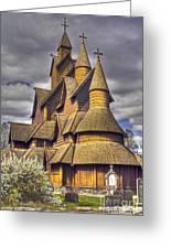 Heddal Stave Church  Greeting Card
