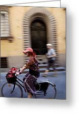 Heels On Wheels Greeting Card by Lee Stickels
