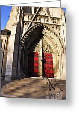 Heinz Chapel Main Entrance Greeting Card