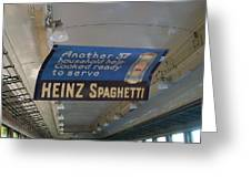 Heinz Spaghetti Train Ad Signage Digital Art Greeting Card