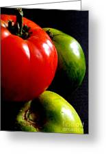 Heirloom Tomatoes Greeting Card by Maria Scarfone