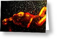 Hell Freezing Over Greeting Card by D Rogale