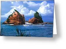 Hells Gate Rocks Near Calibishie Dominica Greeting Card