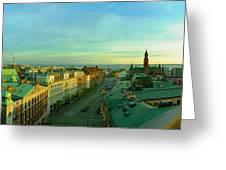 Helsingborg And Oresund Beyond Greeting Card