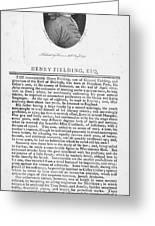 Henry Fielding (1707-1754) Greeting Card