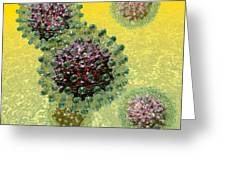 Hepatitis B Virus Particles Greeting Card by Russell Kightley