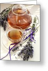 Herbal Tea And Lavender Greeting Card