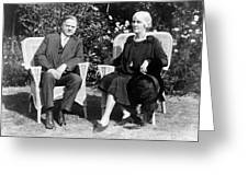 Herbert Hoover Seated With His Wife Greeting Card