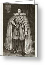 Herbert Of Cherbury, English Philosopher Greeting Card by Middle Temple Library
