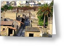 Herculaneum Ruins Greeting Card