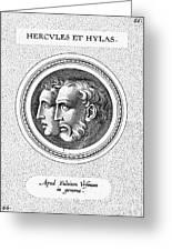 Hercules And Hylas Greeting Card