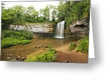 Herisson Waterfalls Greeting Card