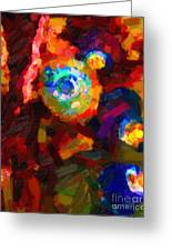 Hermit Crabs In Abstract Greeting Card by Wingsdomain Art and Photography