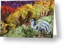 Heron At Night Greeting Card