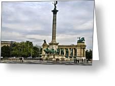 Heros Square - Budapest Greeting Card