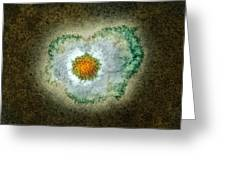 Herpes Virus Particle, Tem Greeting Card by Hazel Appleton, Centre For Infectionshealth Protection Agency