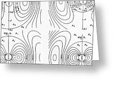 Hertzs Flux Lines Greeting Card by Science Source