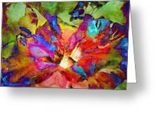 Hibiscus Abstract Greeting Card