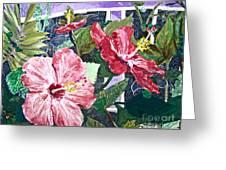 Hibiscus Seductris Greeting Card