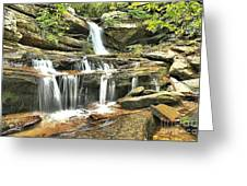 Hidden Falls At Hanging Rock Greeting Card