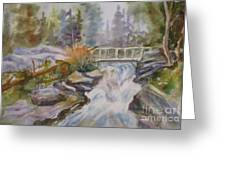 Hidden Falls Tetons Greeting Card