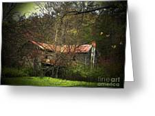 Hidden House In Spring Greeting Card