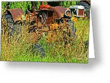 Hidden Tractor Parts Greeting Card