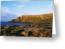 High Angle View Of Rocks, Giants Greeting Card