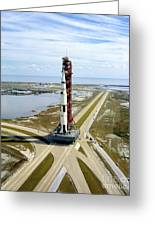 High Angle View  Of The Apollo 14space Greeting Card