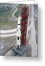 High Angle View  Of The Apollo 15 Space Greeting Card