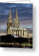 High Cathedral Of Sts. Peter And Mary In Cologne Greeting Card