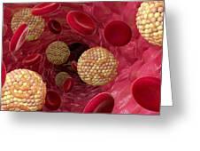High Cholesterol Levels, Artwork Greeting Card