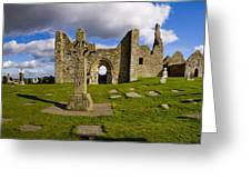 High Cross At Clonmacnoise, County Greeting Card