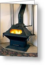 High Efficiency Multi-fuel Stove Greeting Card by Mark Sykes