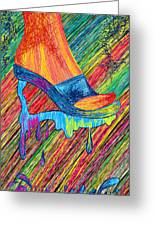 High Heels Abstraction Greeting Card by Kenal Louis