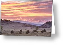 High Park Fire Larimer County Colorado At Sunset Greeting Card