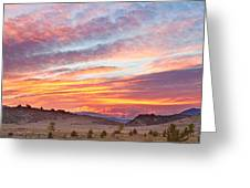 High Park Wildfire Sunset Sky Greeting Card