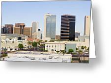 High Rise Buildings Of Downtown Phoenix Greeting Card by Jeremy Woodhouse