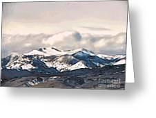 High Sierra Mountains Greeting Card