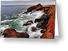 High Tide At Bass Harbor Head Greeting Card