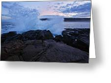 High Tide At Dusk Greeting Card