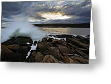 High Tide At Otter Point Greeting Card