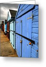 Highcliffe Beach Huts Greeting Card
