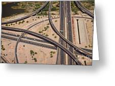 Highway Planet Art Greeting Card