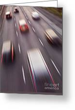 Highway Traffic In Motion Greeting Card