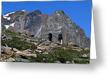 Hiking In Jasper Greeting Card