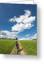 Hiking In The Summer Greeting Card