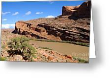 Hiking The Moab Rim Greeting Card