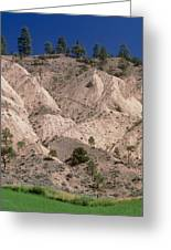 Hill Soil Erosion Caused By Over-grazing Greeting Card